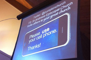 cell phone in church
