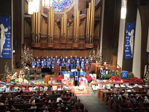 The congregation of FUMC, Monroe celebrates Christmas for the Children.